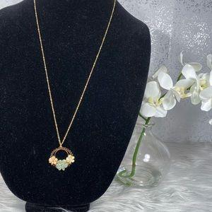 🆕 LC Lauren Conrad Gold & Flower Chain Necklace